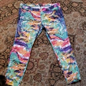 Forever 21 abstract print ankle pants size 20